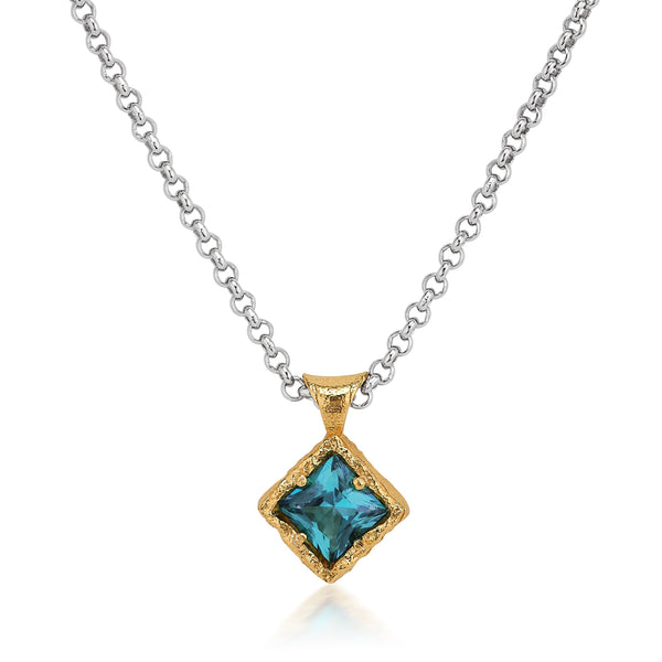 AT 835AT-PT PARAIBA TOPAZ NECKLACE