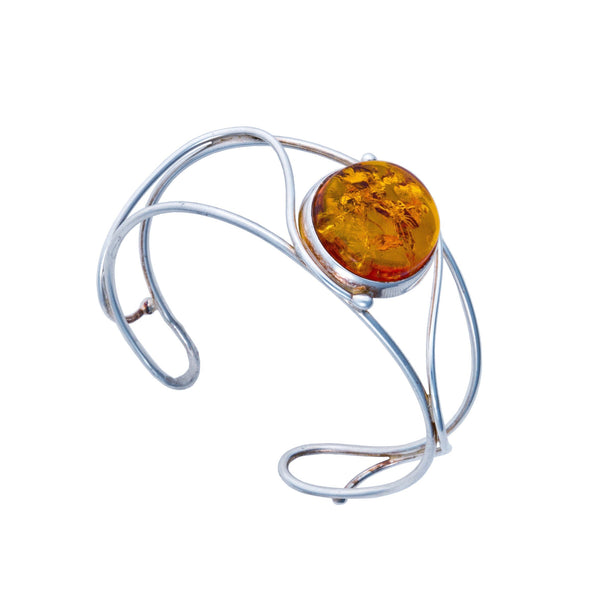 BS OVAL AMBER THIN TWISTED CUFF