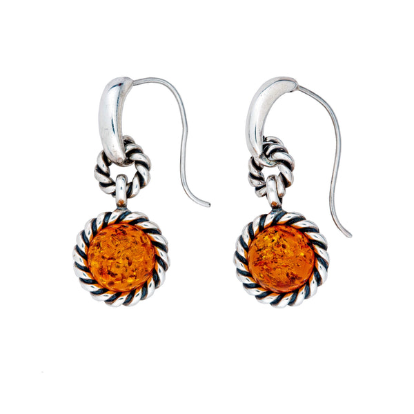 V EF2056 AMBER ROPE EARRINGS