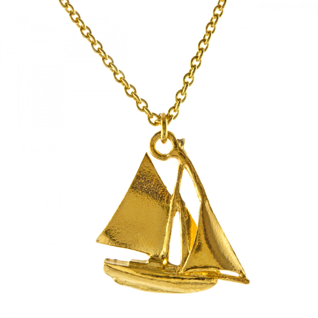 ALM BBN11-GP SAILBOAT NECKLACE