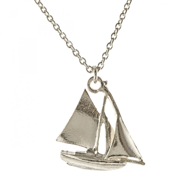 ALM BBN11-S SAILBOAT NECKLACE