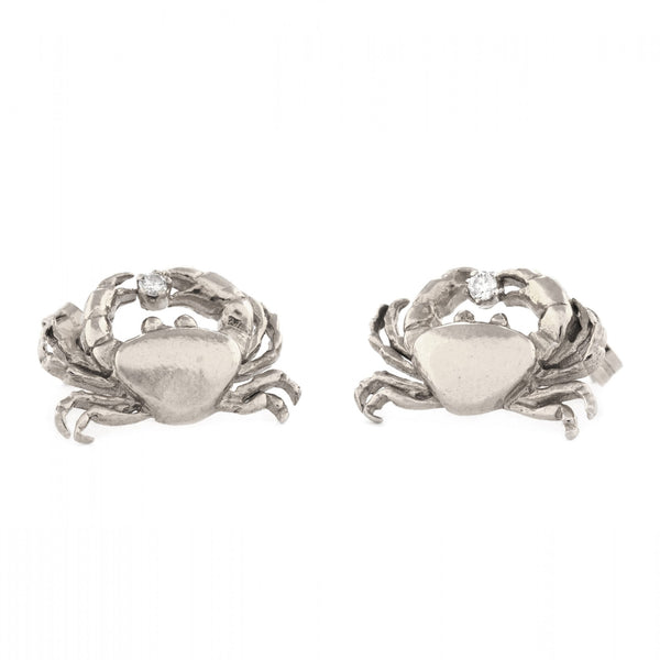 ALM BSE3-S CRAB DIAMOND STUD EARRINGS