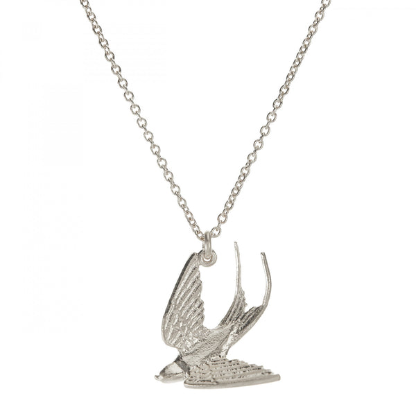 ALM BSN8-S SWOOPING SWALLOW NECKLACE