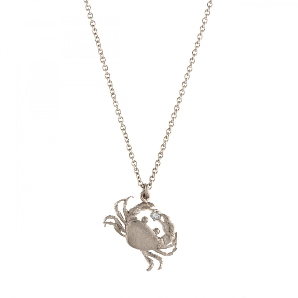 ALM BSN9-S CRAB DIAMOND NECKLACE