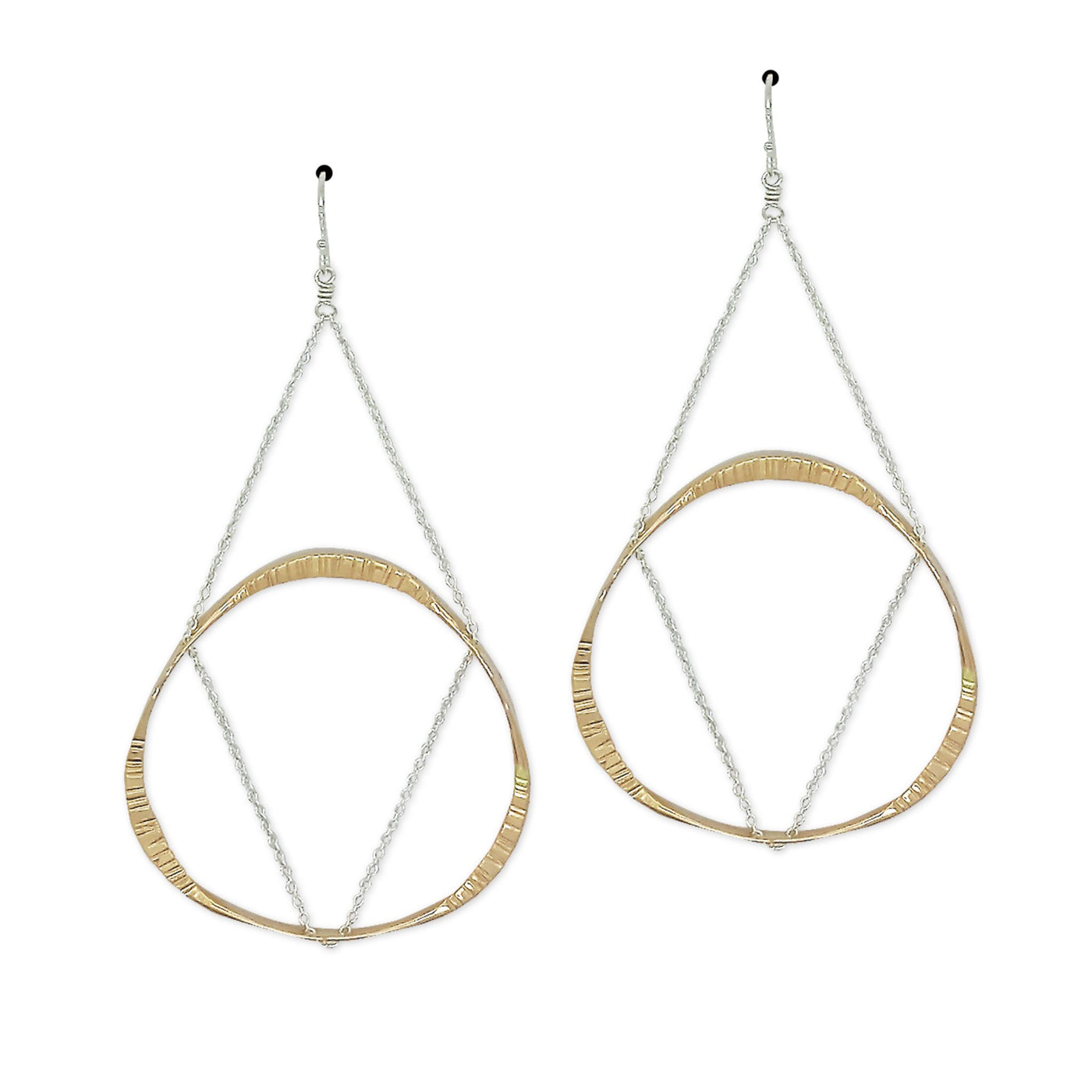 DRD E1667MS TWO TONE FLOATING MOBIUS EARRINGS