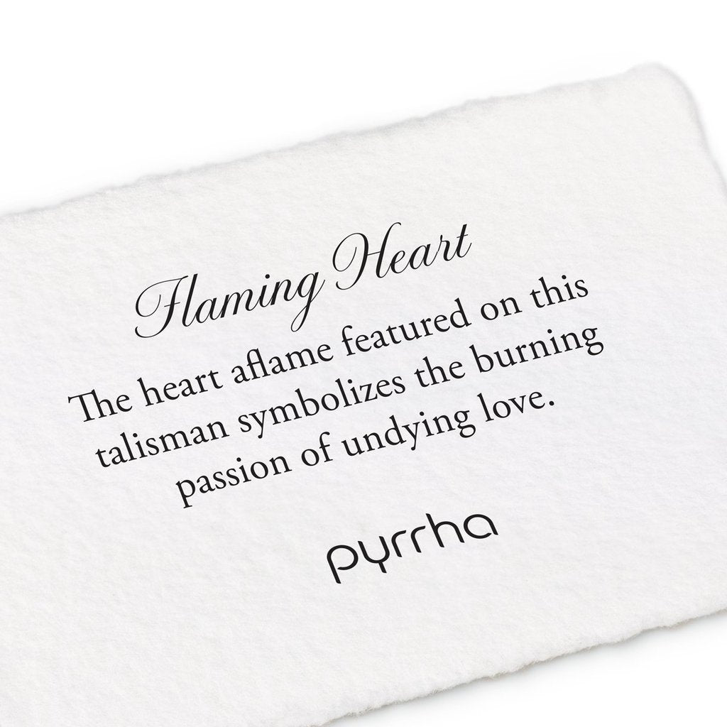 PYR N892-18 FLAMING HEART NECKLACE