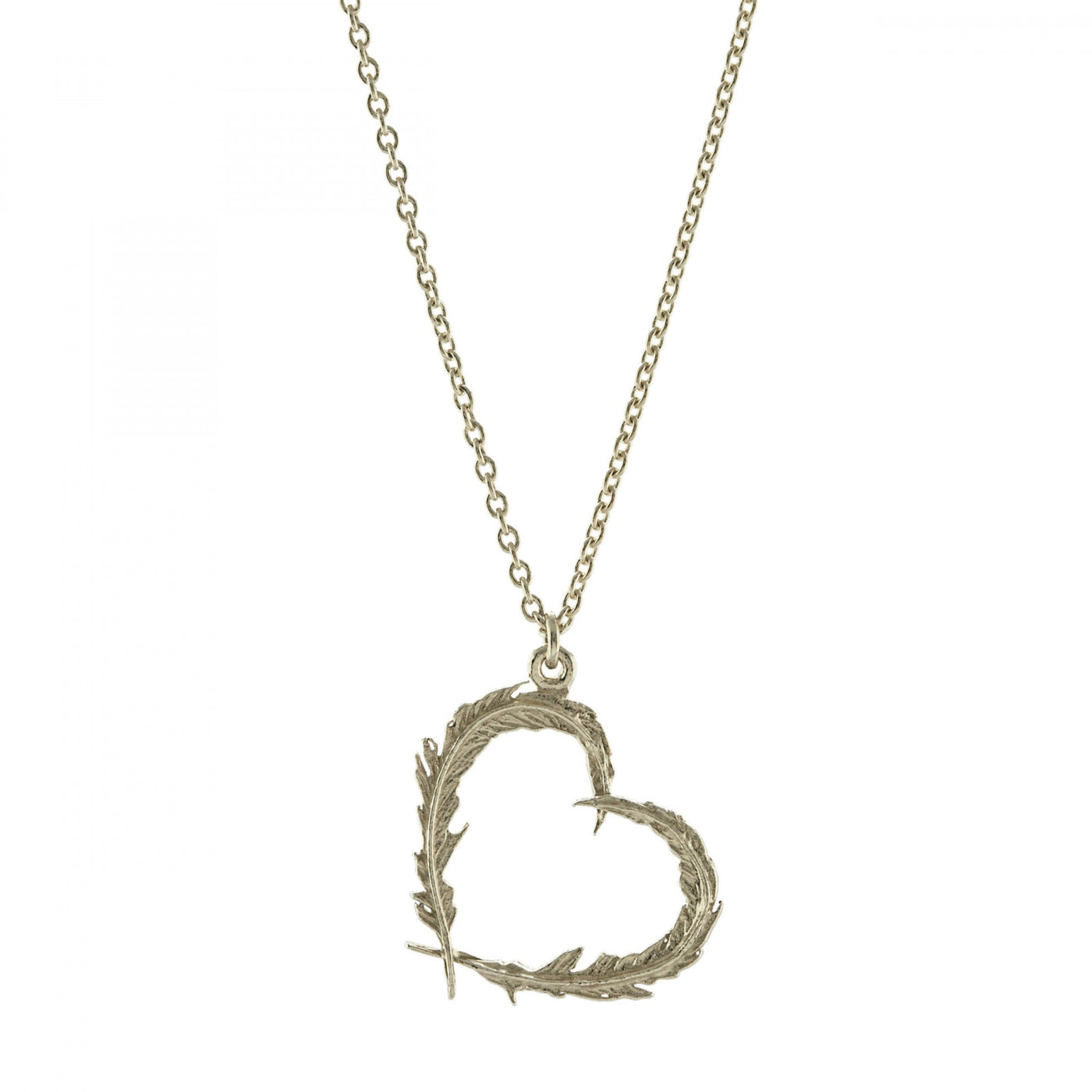 ALM FSN4-S FEATHER HEART NECKLACE