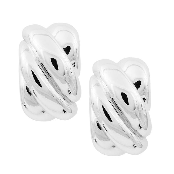 SSB E2873/CL SCULPTED RECTANGULAR CLIP EARRINGS