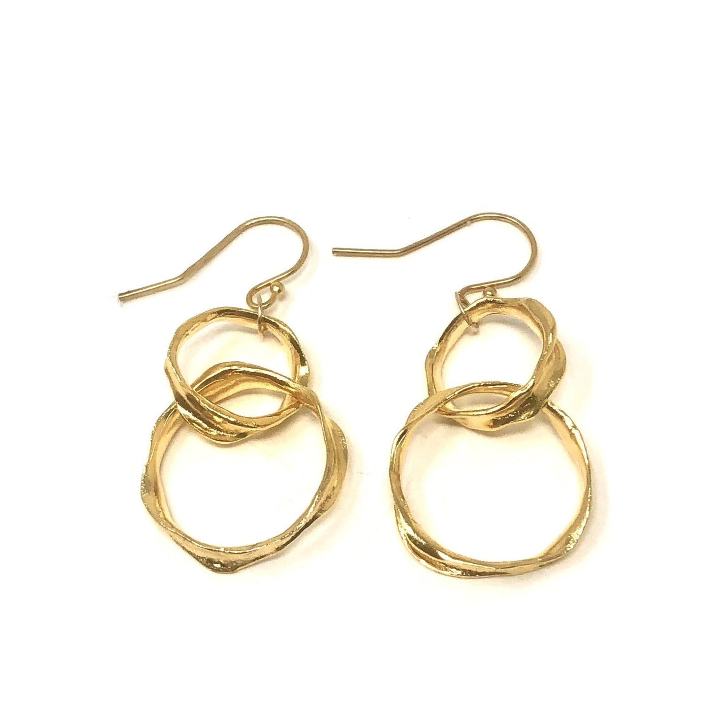 MSH EPOC48G GOLD DOUBLE CIRCLE DANGLES
