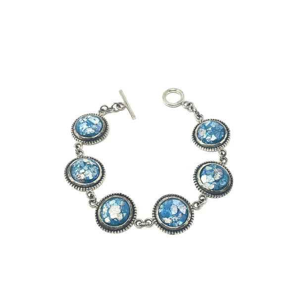 DSB B0202 ROMAN GLASS CIRCLE BRACELET