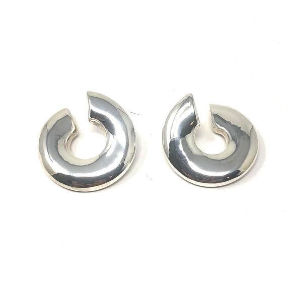 "SSB E2986 LG CURVED ""C"" POST EARRINGS"