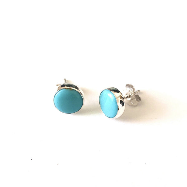 SP E412 TURQUOISE CIRCLE STUDS