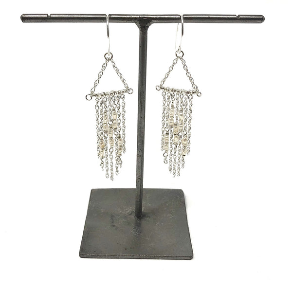 KW NATALYA PEARL FRINGE EARRINGS
