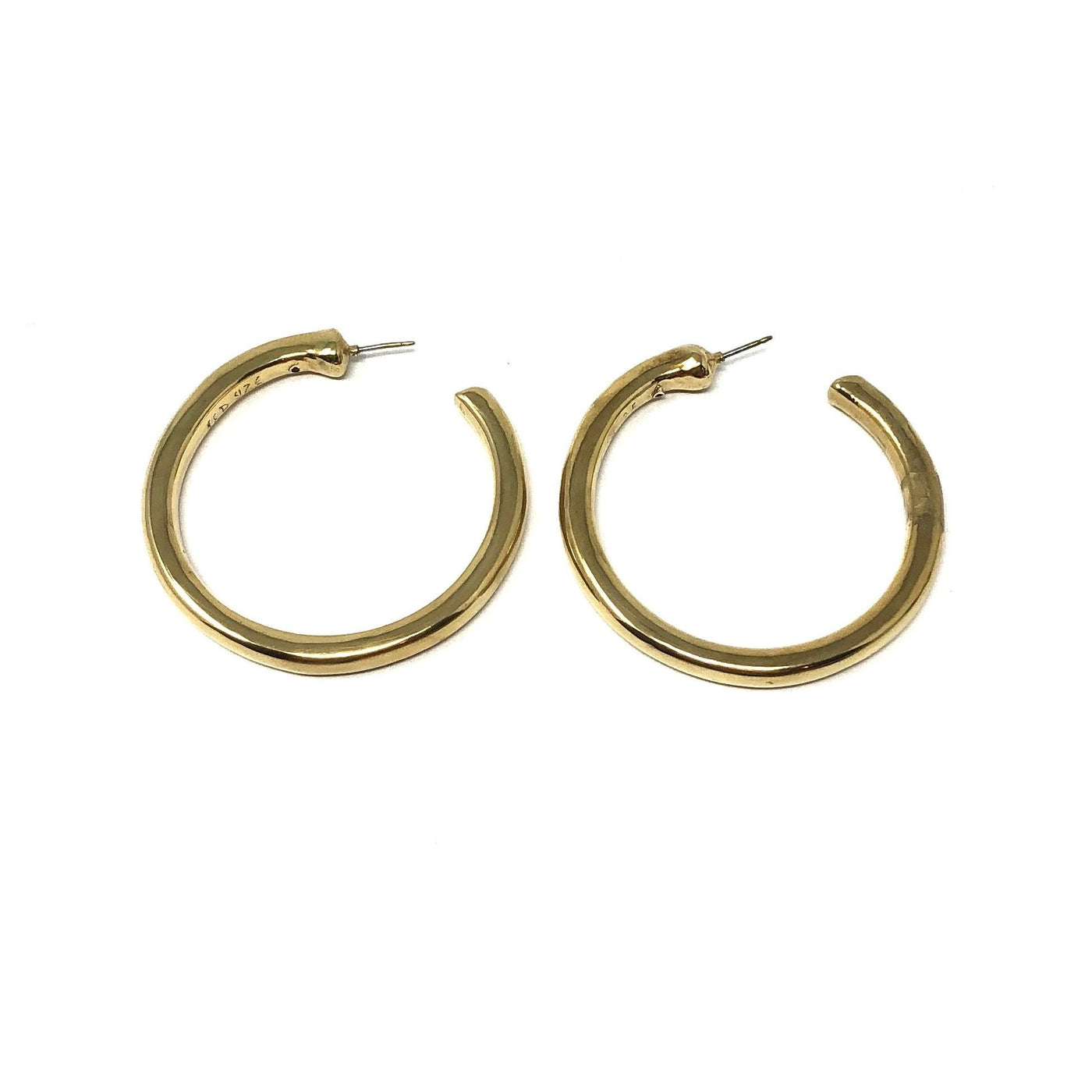 SSB E2821/GOL LARGE GOLD HOOPS