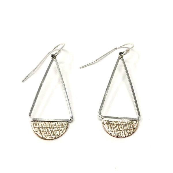 DRD E1789MG TRIANGLE FAN EARRINGS