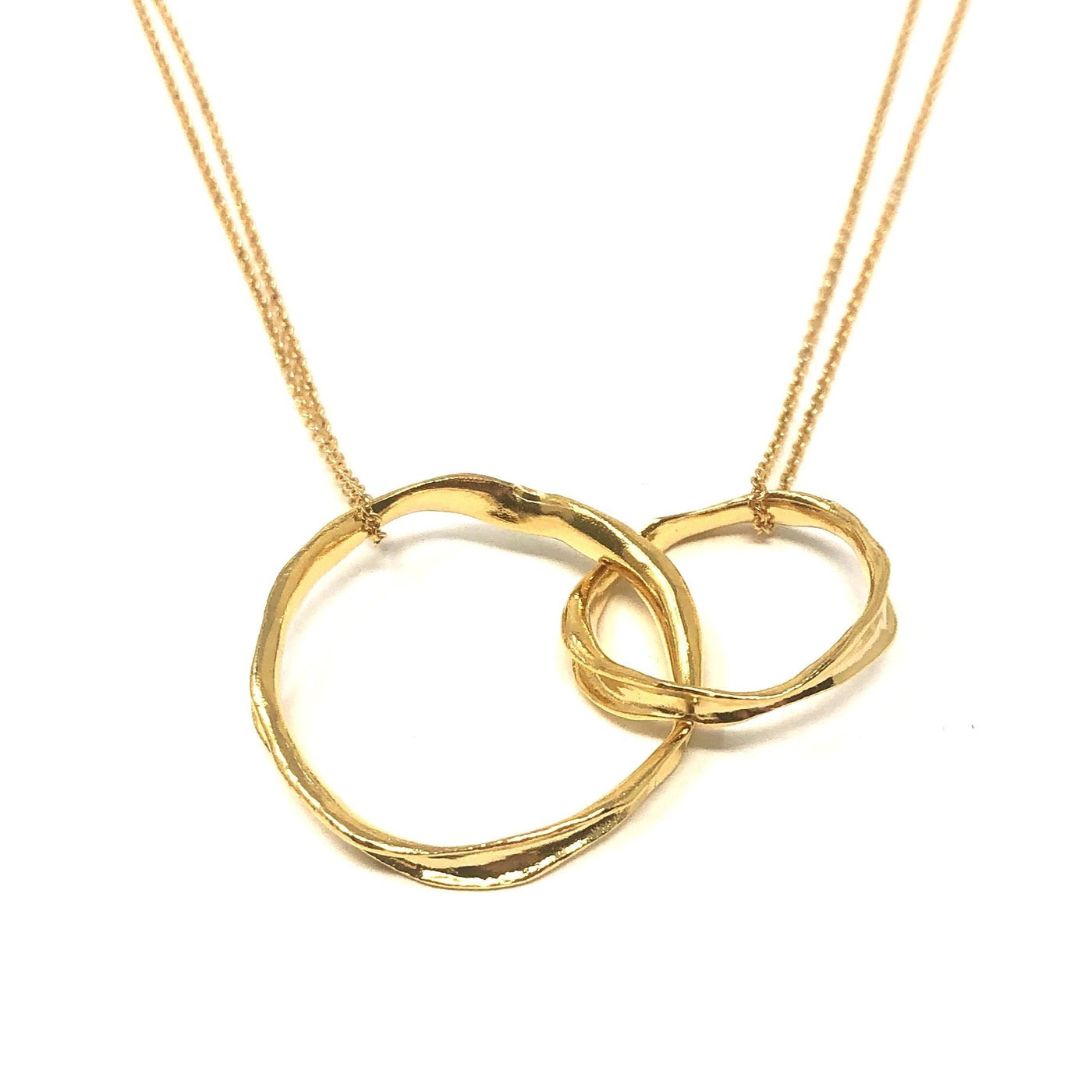MSH NPOC06G GOLD DOUBLE CIRCLE NECKLACE