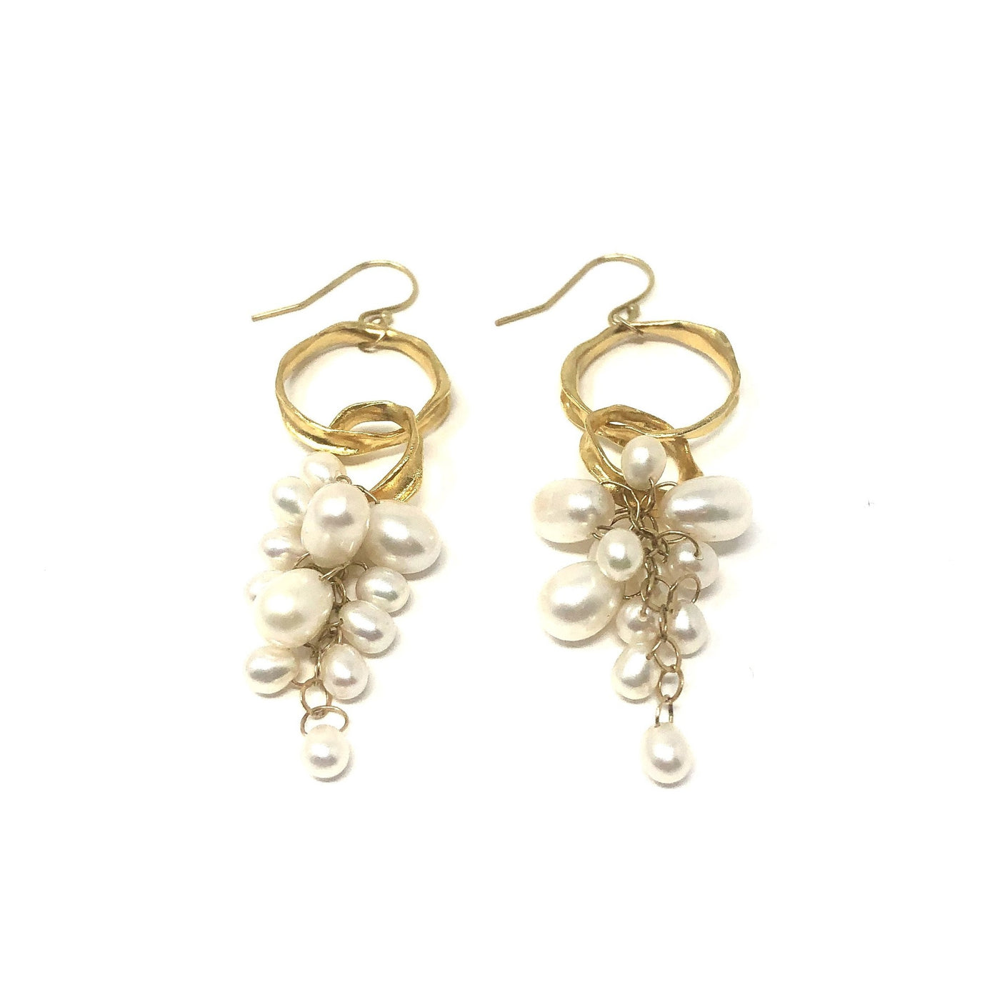 MSH EWFC27 MULTI PEARL GOLD DANGLES