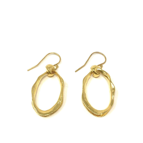 MSH EPOL25G GOLD OVAL EARRINGS