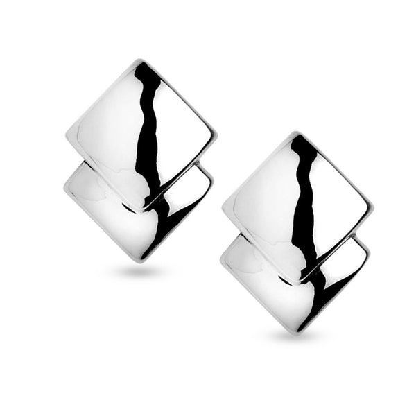 SSB E2875/CL DOUBLE SQUARE CLIP EARRINGS
