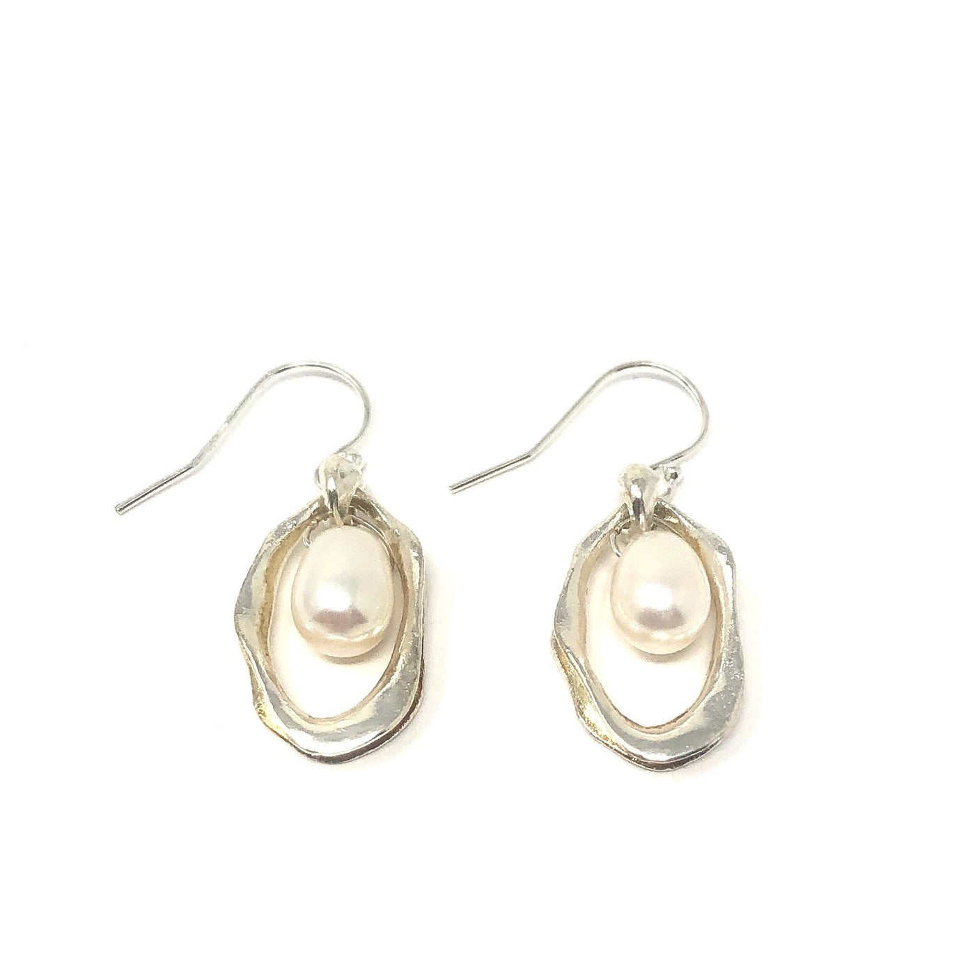 MSH EWFC14SS OVAL PEARL EARRINGS