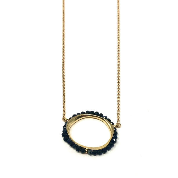 MSH NPOL21G BLACK & GOLD NECKLACE