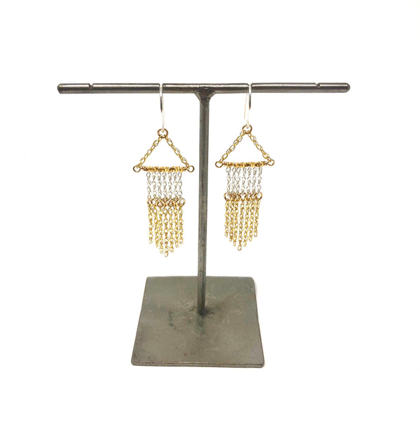 KW GIANNA TWO TONE FRINGE EARRINGS