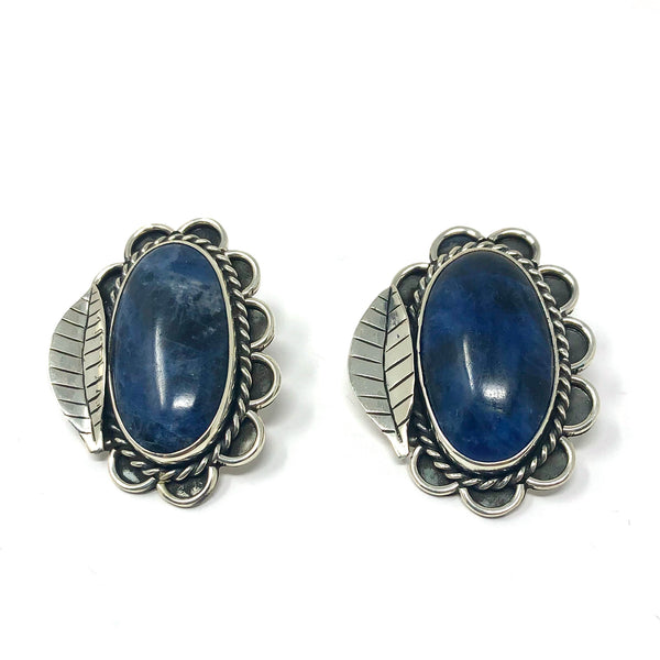 RL SOLDALITE FLOWER CLIP EARRINGS