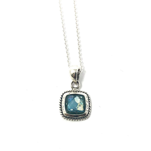 DSB PO147 SMALL ROMAN GLASS SQUARE PENDANT