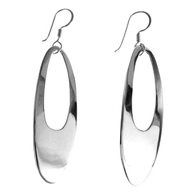 MM M1-101 14 LONG OPEN OVAL EARRINGS