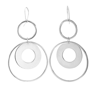 MM M1-13 14 MULTIPLE CIRCLE DROP EARRINGS