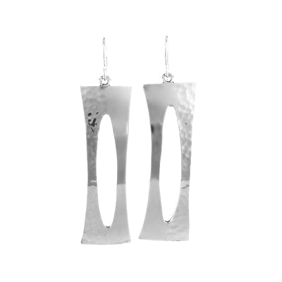 MM M1-164 11 LONG OPEN RECTANGLE EARRINGS