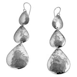 MM M1-2459 10 TRIPLE HAMMERED TEAR DROP EARRINGS