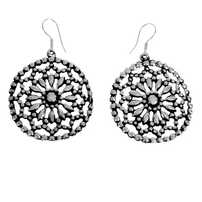 MM M1-25 15 DOTTED CIRCLE FLOWER EARRINGS