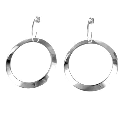 MM M1-55 4 LARGE FLAT CIRCLE DROP EARRINGS