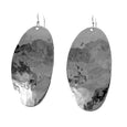 MM M1-736 8 HAMMERED OVAL DROP EARRINGS