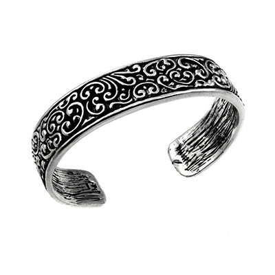 MM M4-197 OXIDIZED FILIGREE CUFF BRACELET