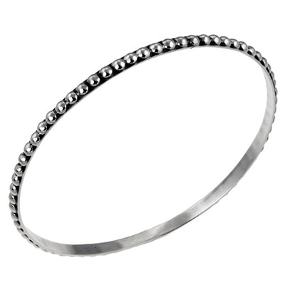 MM M5-161 THIN DOTTED BANGLE BRACELET