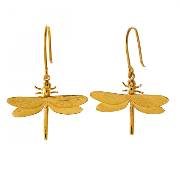 ALM MGE11-GP DRAGONFLY EARRINGS