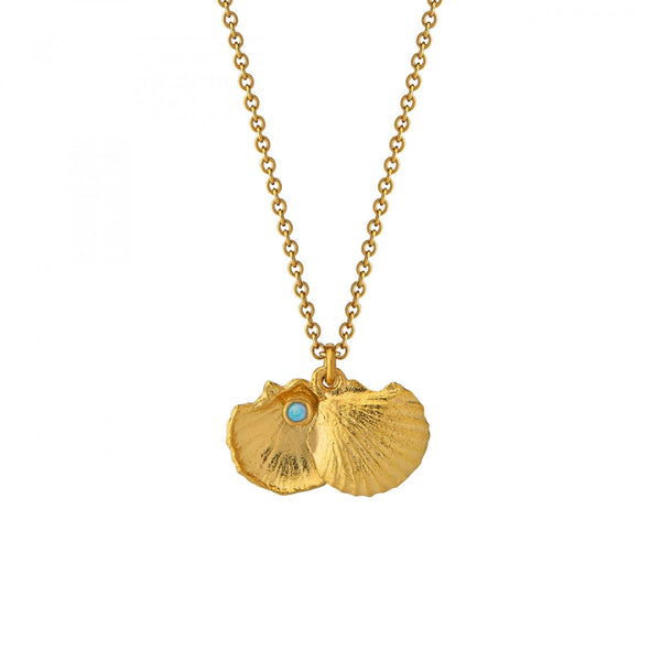 ALM OCN6GP GOLD OPEN SHELL NECKLACE