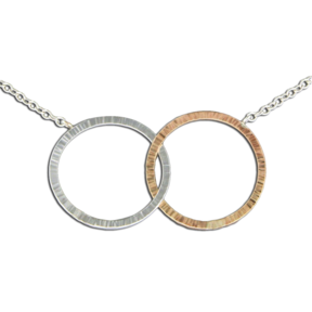 MST PN3-MX TWO TONE CIRCLES NECKLACE