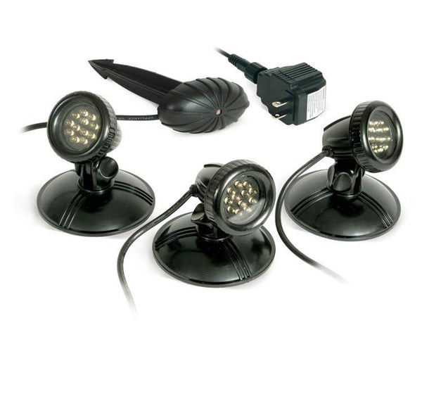 Atlantic 3 Pack SOL LED Pond Lights with Transformer
