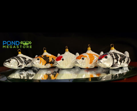 Koi Fish Ornaments, ALL 5 Koi Ornaments. <br> One Special Price