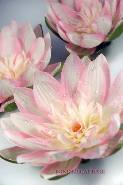 Artificial Waterlily, Pink Imitation 7 Inch  Waterlily, Single Flower