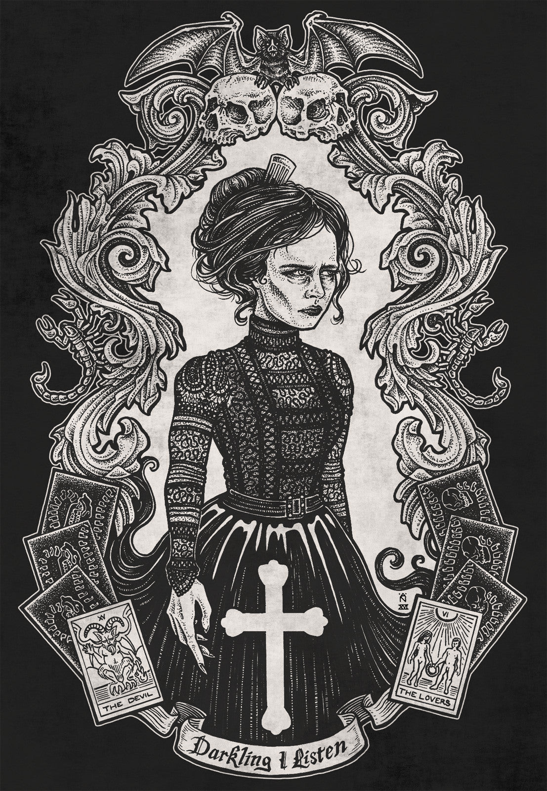 vanessa ives from penny dreadful illustration by alexandria noel
