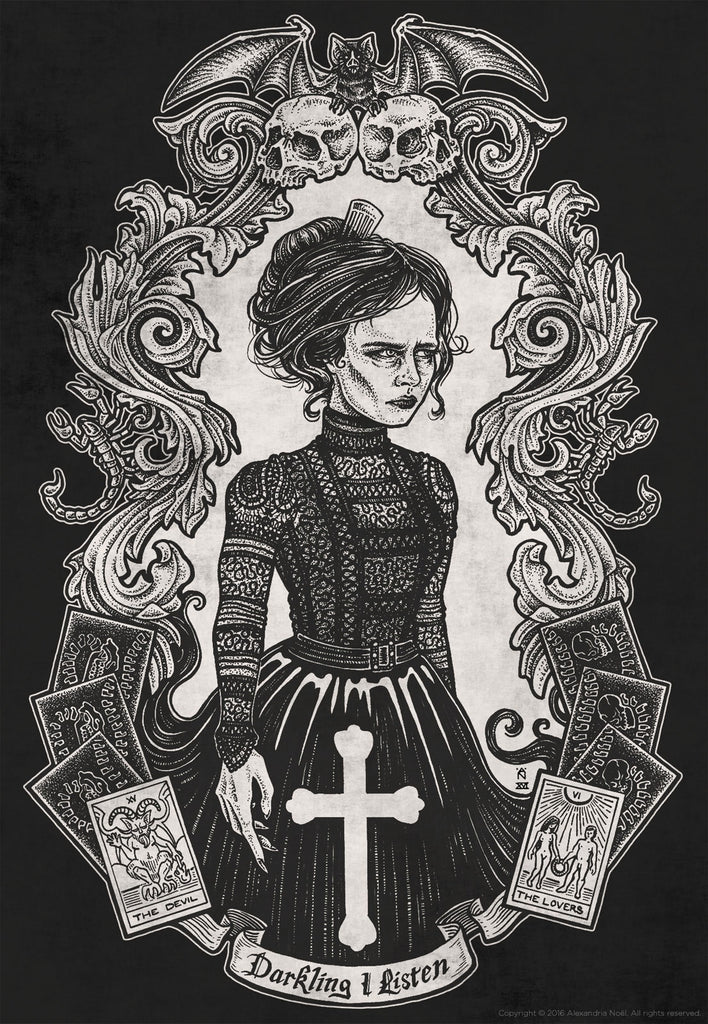 vanessa ives penny dreadful illustration by alexandria noel