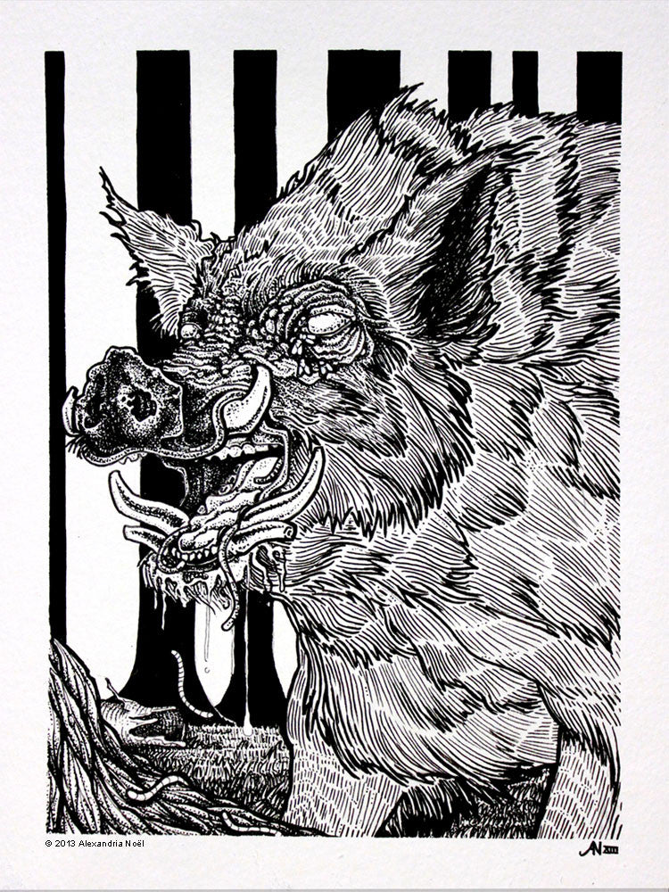 alexandria noel boar illustration