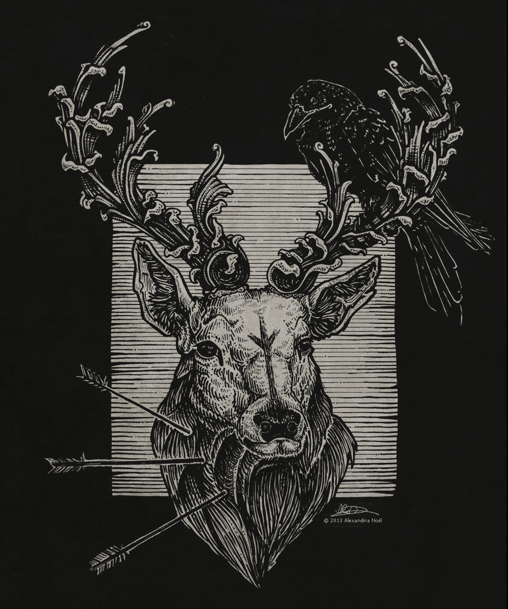 alexandria noel stag illustration