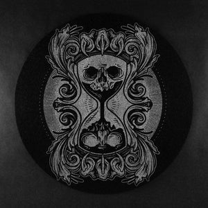 goth metal death skull hourglass vinyl turntable slipmat