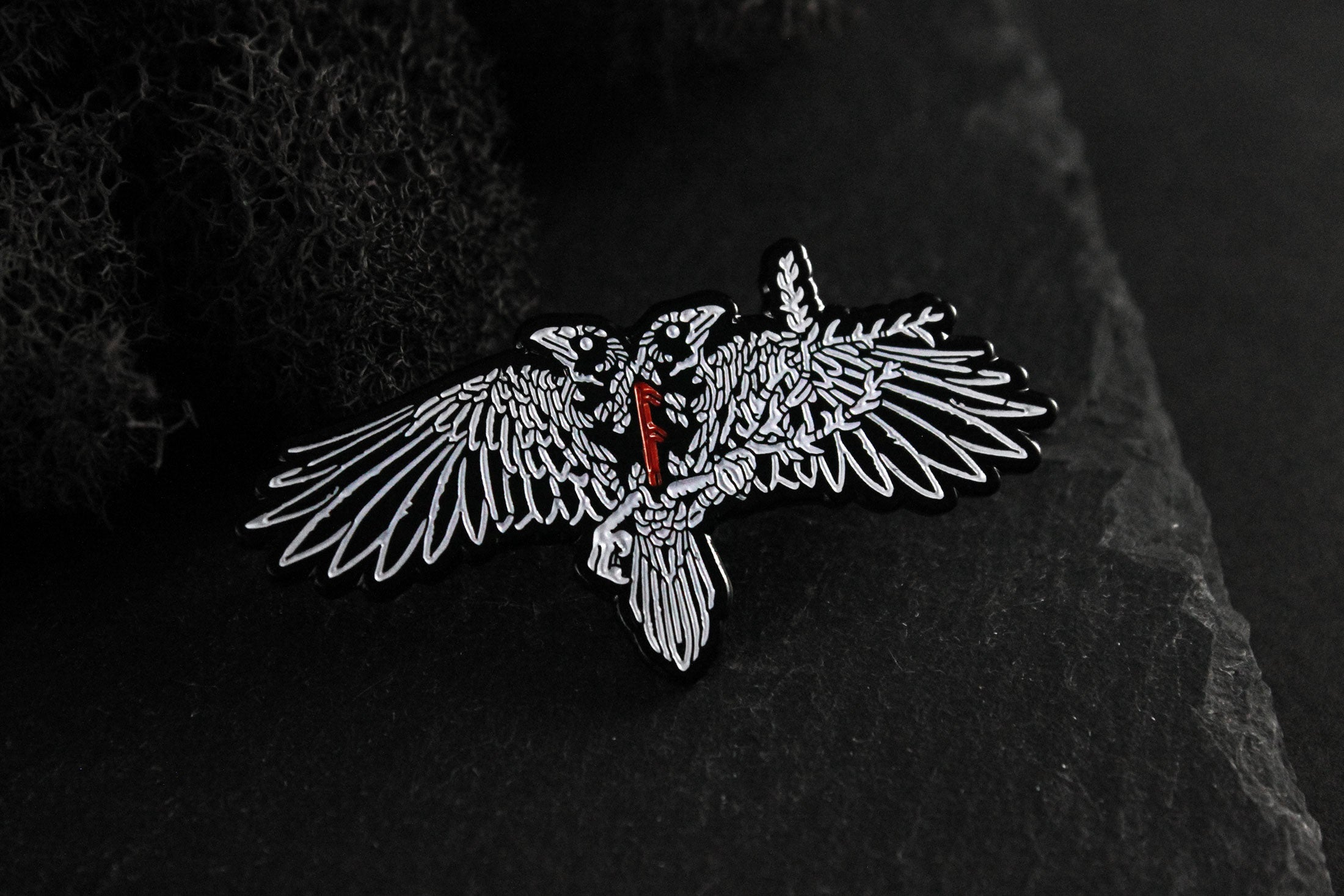 Huginn and Muninn Enamel Pin