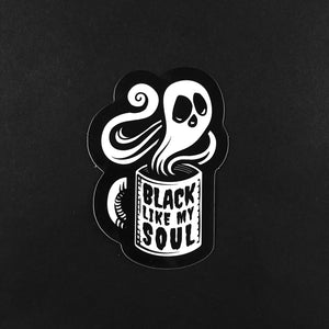 Black Like My Soul Coffee Sticker